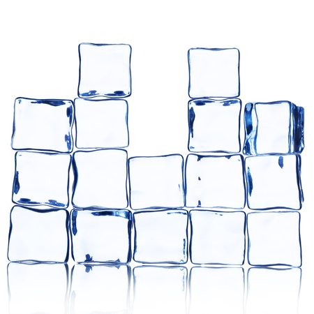 Wall of Ice Cube on white Stock Photo - 16189633
