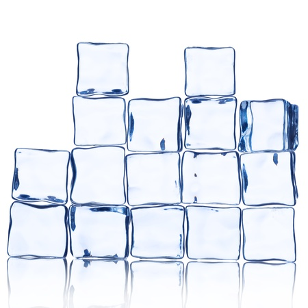 Wall of Ice Cube on white  Stock Photo - 16189634