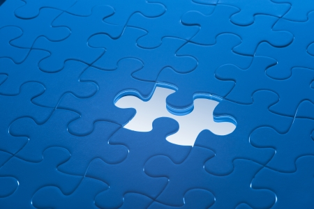 Missing Jigsaw puzzle Stock Photo - 16665230