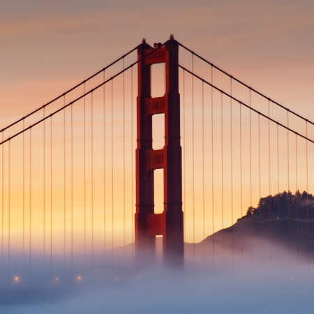 Golden Gate Bridge at sunset, San Francisco, USA photo