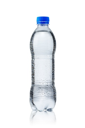fizzy: Water bottle on white Stock Photo