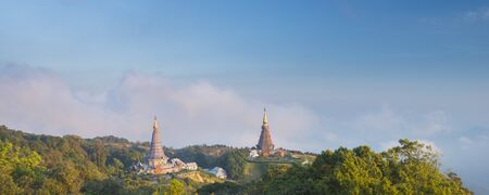 Thai Temple on North part of Thailand, Doi Inthanon Stock Photo - 17106698