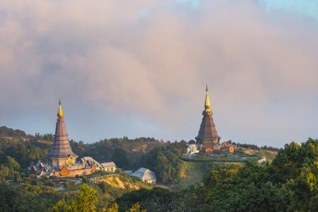 Thai Temple on North part of Thailand, Doi Inthanon Stock Photo - 17106707