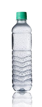 soda water: Fresh cold water bottle on white  Stock Photo