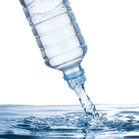 pour water: Water pour from water bottle