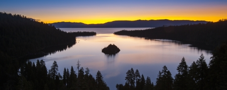 Panorama shot of Lake Tahoe, California, USA photo