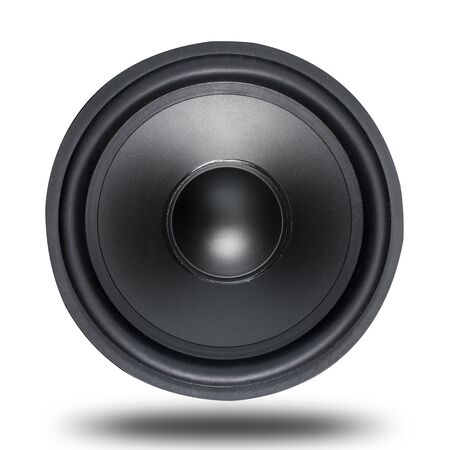 woofer: Loud Speakers woofer on white Stock Photo