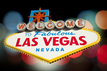 las vegas sign: Las Vegas Sign on Bokeh background