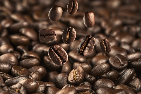 Falling coffee bean photo
