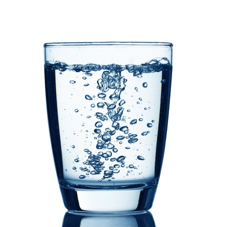 welling: Glass of water with bubble Stock Photo