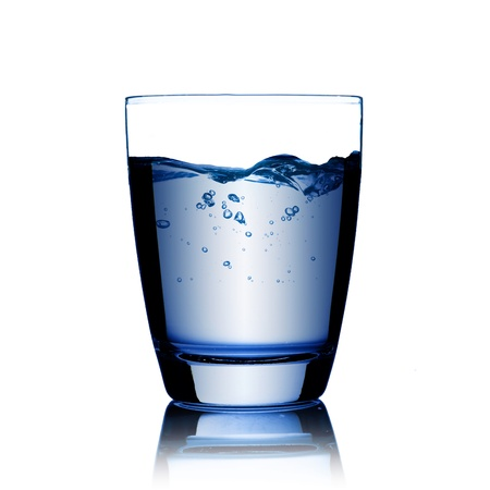 Glass of drinking water photo