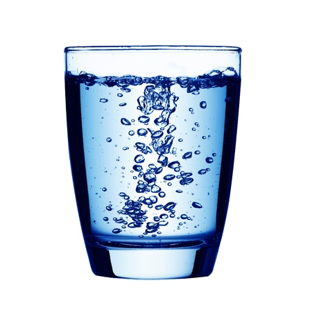 purified: Glass of drinking water Stock Photo