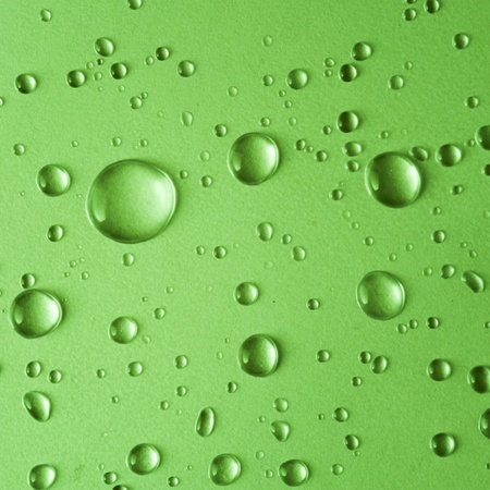 Water drop on green Stock Photo - 18249620