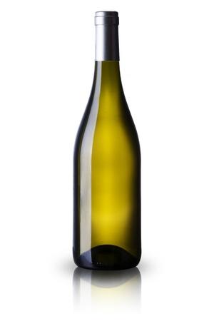 burgundy drink glass: Bottle of white wine Stock Photo