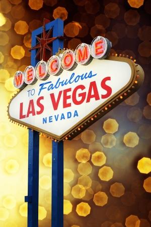 las vegas night: Welcome to Fabulous Las Vegas sign, Nevada, USA