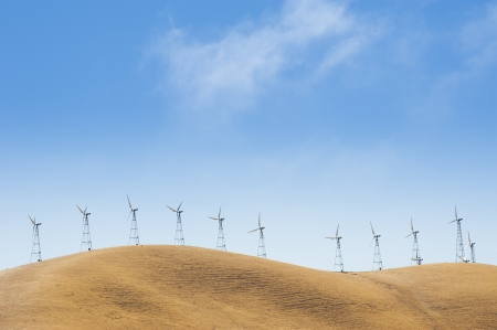 Wind Turbine on mountain Stock Photo - 20407906