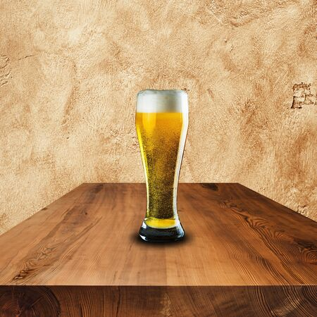 Glass of cold beer photo