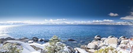 south lake tahoe: Panorama shot of lake tahoe