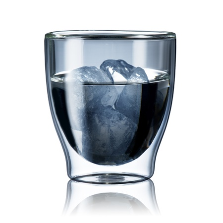 welling: Glass of water with ice Stock Photo