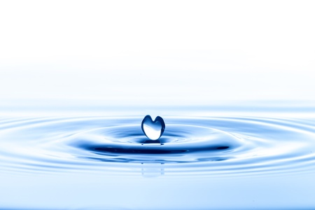 水の波とリップルの水ドロップ