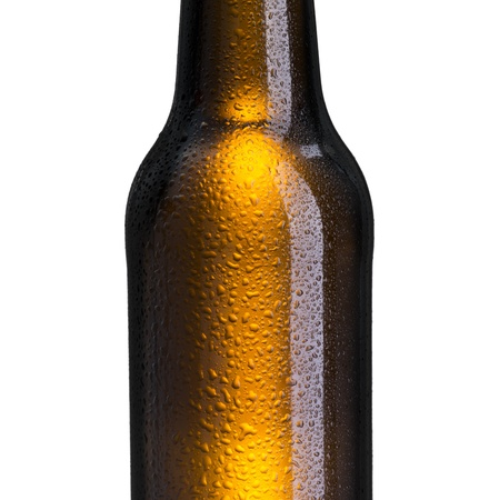 Close up of beer bottle photo