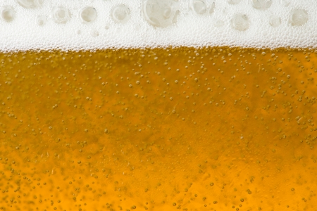 Close up of beer foam and bubble photo
