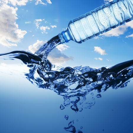 welling: Water pour from water bottle
