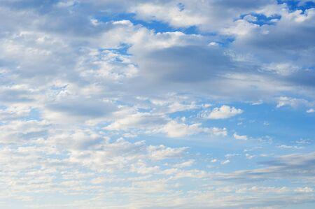 the sky clear: Azul Cielo Nublado Foto de archivo