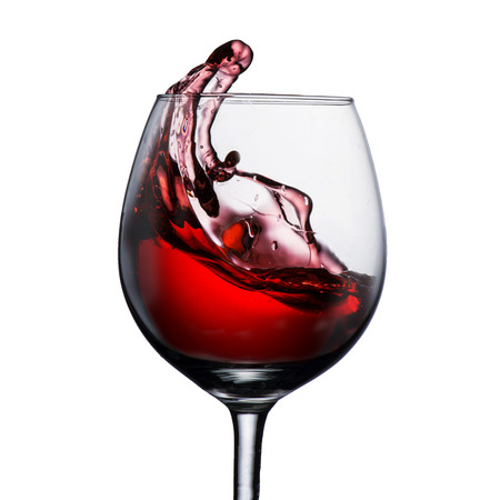 merlot: Red Wine Splash  Stock Photo