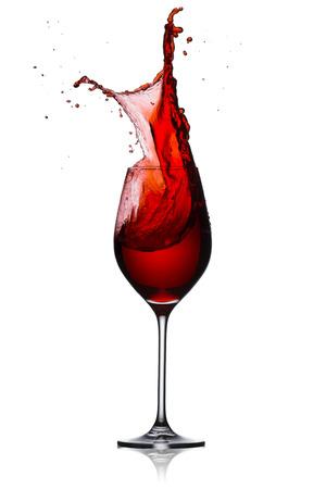 Red wine splash Imagens