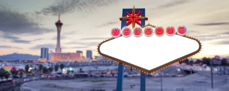 Blank Las Vegas Sign photo
