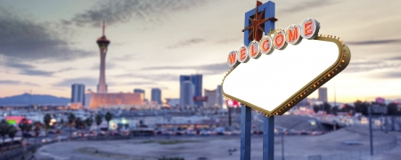 Blank Las Vegas Sign photo