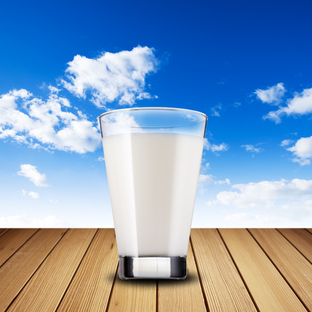 Glass of milk photo