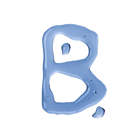 Water droplet form alphabet letter  Letter B photo