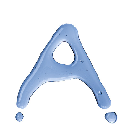 Water droplet form alphabet letter  Letter A photo