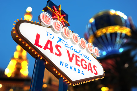 Welcome to Las Vegas neon sign Stock Photo