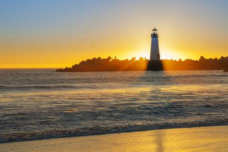 Light House at Sunset photo