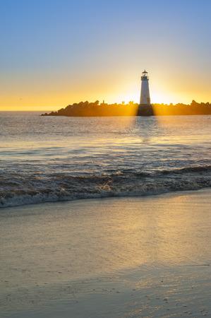illuminative: Lighthouse at sunset