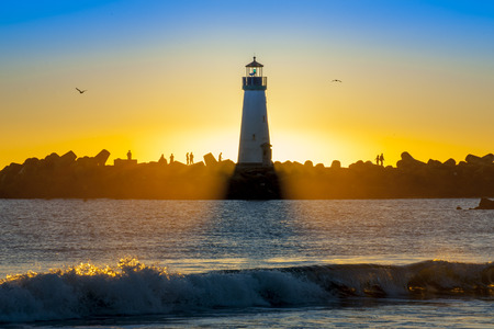 illuminative: Lighthouse at sunset