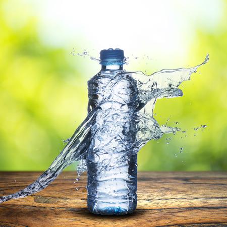 Water Splash on Water bottle Foto de archivo