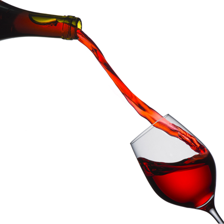 Red Wine Pour into Glass photo
