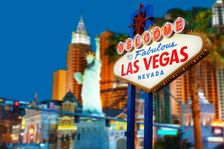Welkom in Las Vegas neon teken Stockfoto
