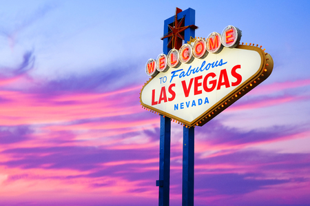 Welcome to Las Vegas neon sign.  photo