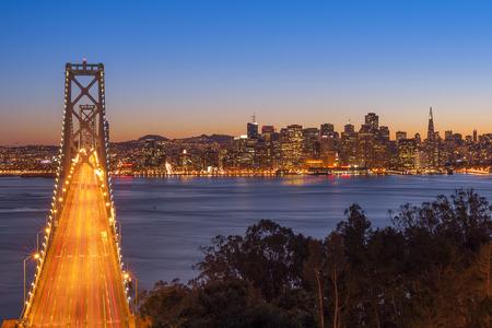 Bay Bridge, San Francisco, California, USA Imagens