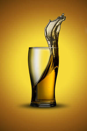 Beer Splash from Glass photo