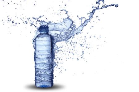 Water Splash on Bottle photo