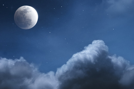 Moon and Cloud at Night, Starry Night