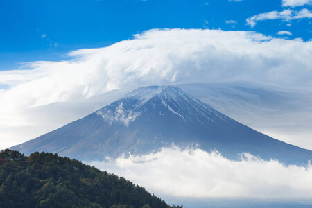capped: Mt. Fuji in the clouds
