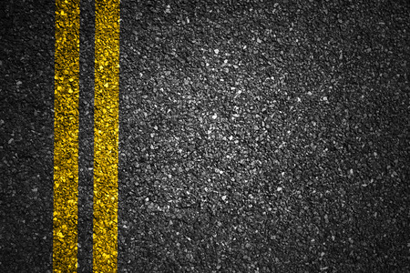 Asphalt Road Texture with Yellow Strips