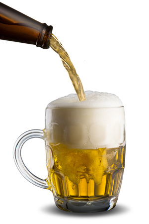 Glass of beer pour photo